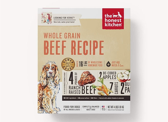 Honest Kitchen  Dog Whole Grain Beef  4 Lbs. Box