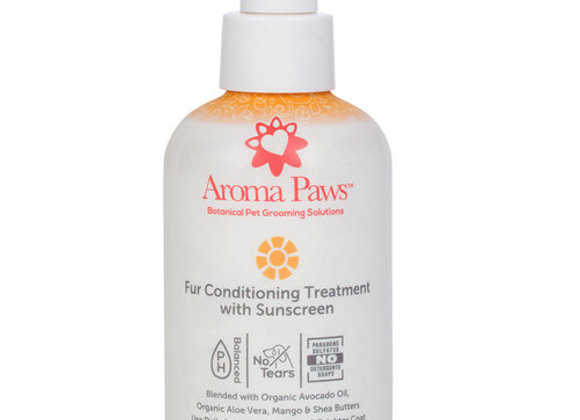 Fur conditoning treatment with sunscreen