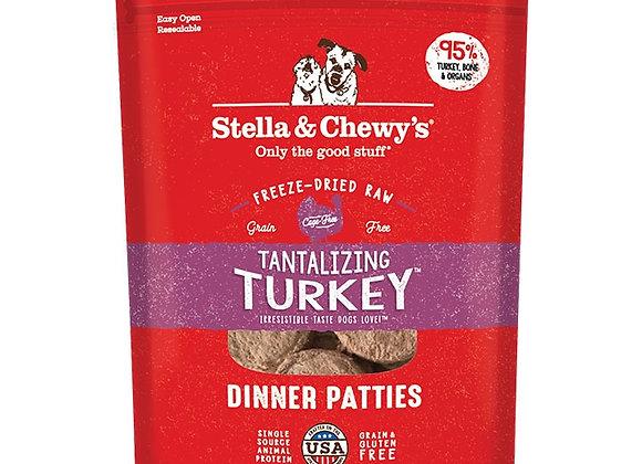 STELLA & CHEWY'S DOG FREEZE-DRIED TURKEY DINNER PATTIES 5.5OZ
