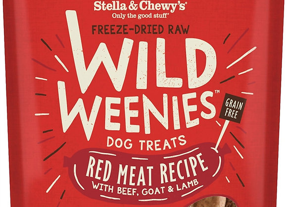 Stella & Chewys Dog Freeze Dried WEENIE Red Meat 3.25 oz.