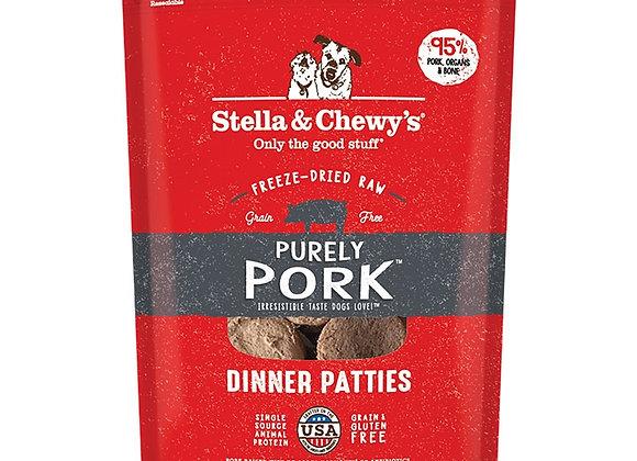 STELLA & CHEWY'S DOG FREEZE-DRIED DINNER PATTIES PORK 14OZ