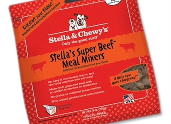 Stella & Chewys Freeze Dried Dog  Food-Mixers Beef 9OZ
