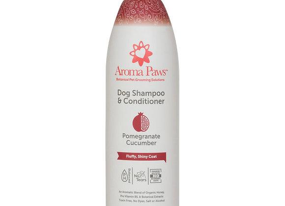 Organic Dog Shampoo & Conditioner Pomegranate Cucumber