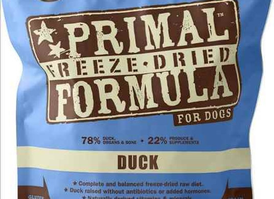 Primal Pet Foods Freeze Dried Dog  Food 14 oz. Duck