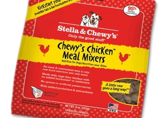 Stella & Chewys Freeze Dried Dog  Food-Mixers Chicken18OZ