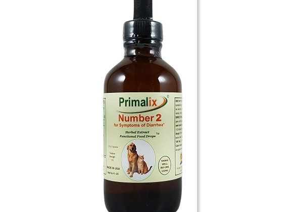 PRIMALIX® NUMBER 2 FOR DIARRHEA IN DOGS AND CATS, HERBAL FORMULA, ORGANIC, HUMAN GRADE INGREDIENTS