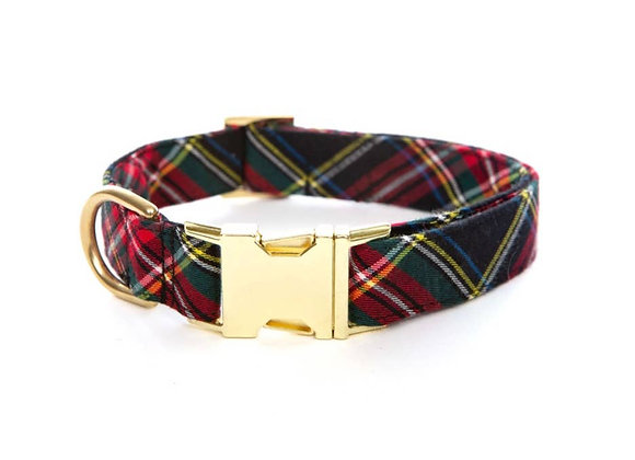 Holiday Plaid Doggie Collar