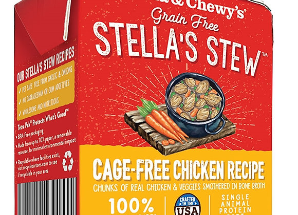 STELLA & CHEWY'S DOG STEW CAGE FREE CHICKEN 11OZ (case of 12)