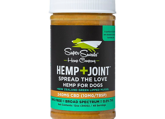 Super Snouts Hemp Extract Peanut Butter with Joint Supplements!