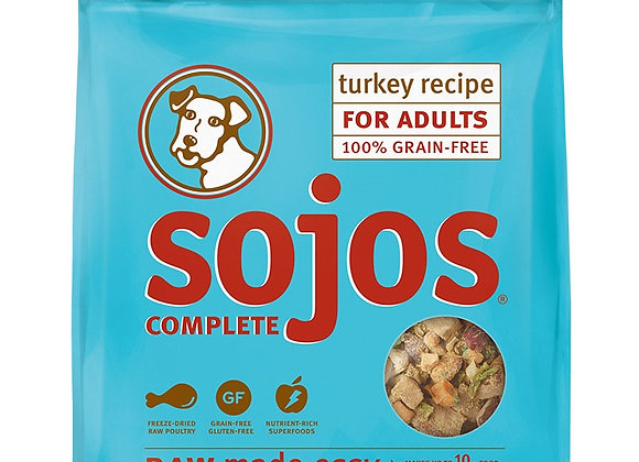 SOJOS DOG FREEZE-DRIED COMPLETE ADULT TURKEY 1.75LB