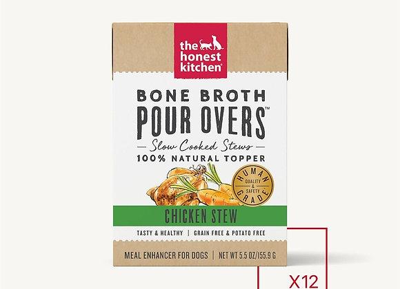 Honest Kitchen  Dog Pour Bone Broth Chicken 5.5 oz.  (Case of 12)