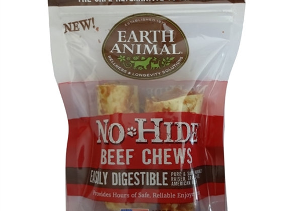 "Earth Animal No Hide Beef Chews Dog Treats, 4"", 2 Pack"