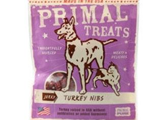 Primal Jerky Turkey Nibs Dog & Cat Treats, 4-oz. bag