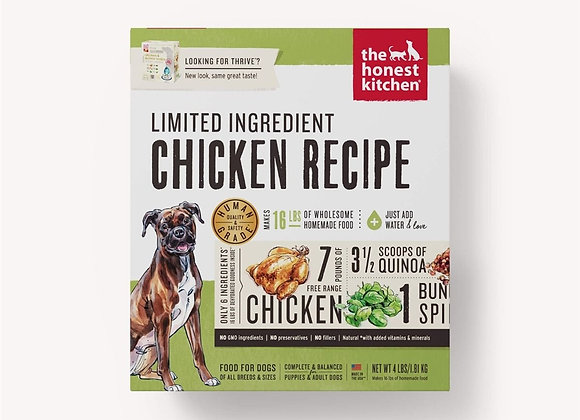 Honest Kitchen  Dog LID Chicken 4 Lbs. Box