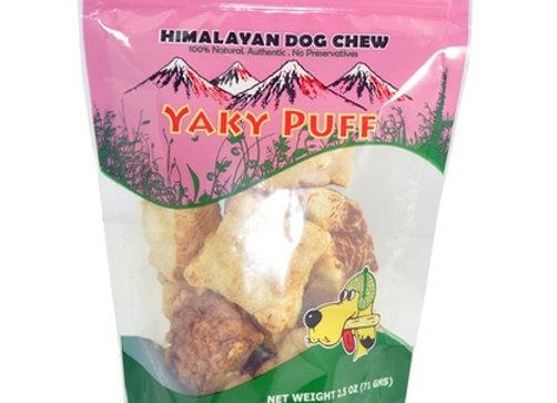 Himalayan Dog Chew  Yaky Puff 2 oz..
