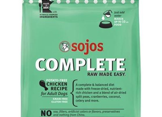 SOJOS DOG FREEZE-DRIED COMPLETE ADULT CHICKEN 1.75LB