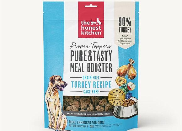Honest Kitchen Dog Proper Topper Grain Free Turkey 14 oz.