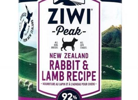 ZiwiPeak Dog Daily-Dog   Rabbit/Lamb 13.75oz.  (case of 12)