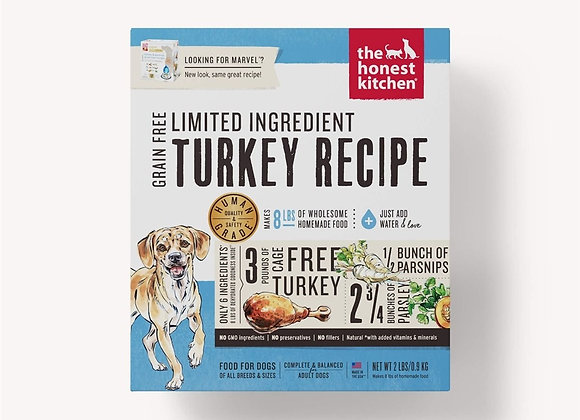 Honest Kitchen  Dog LID Grain Free Turkey 2 Lbs. Box