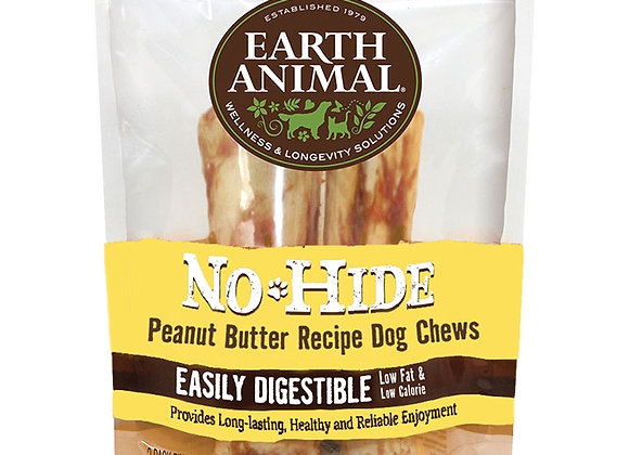 """Earth Animal No Hide Chews Peanut Butter 4""""  (2 Pack)"""