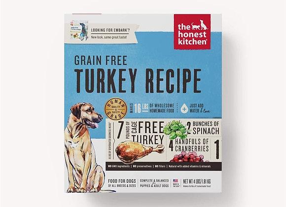 Honest Kitchen  Dog Grain Free Turkey 4 Lbs. Box