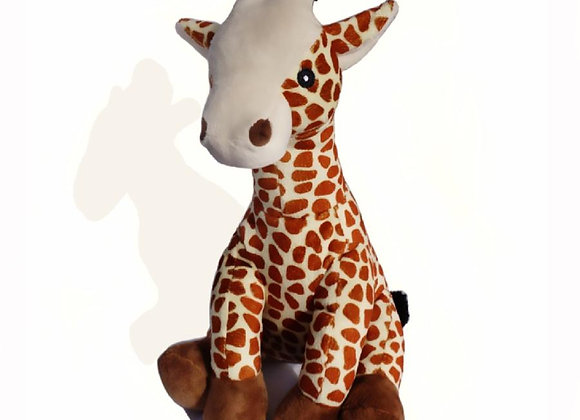 Gilbert the Farting Giraffe soft, cuddly, durable, farting toy for dogs