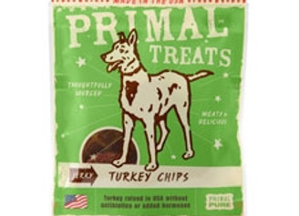Primal Jerky Turkey Chips Dog Treats, 3-oz. bag