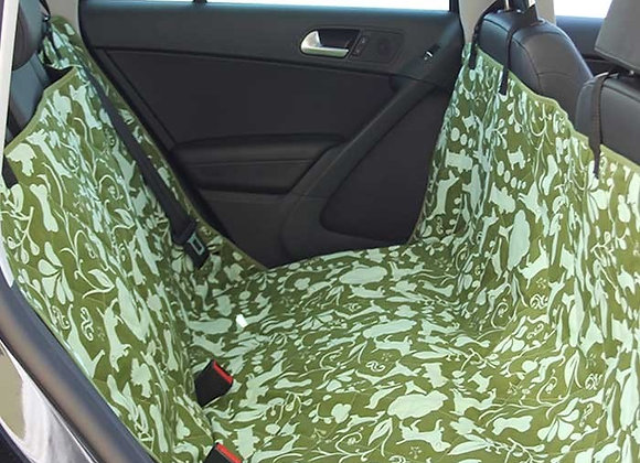 Car Seat Cover, fits all vehicles, adjustable strap, seat anchors, no-slip backing, amarillo by morning design