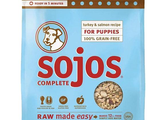 SOJOS DOG FREEZE-DRIED COMPLETE PUPPY TURKEY SALMON 4LB