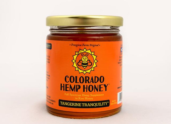 Colorado Hemp Honey, Tangerine essential oil, with CBD, great supplement for humans and dogs