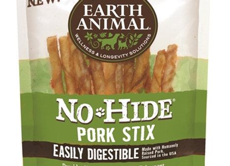 Earth Animal No Hide Pork Chews Dog Treats, 10 Pack