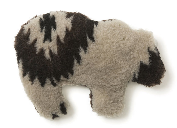 Grizzly Bear Dog Toy, built-in squeaker, eco-friendly fabric, durable material