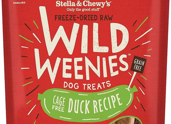 Stella & Chewys Dog Freeze Dried WEENIE Duck 3.25 oz.