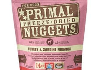 Primal Pet Foods Freeze Dried Dog Food 14 oz. Turkey/Sardine