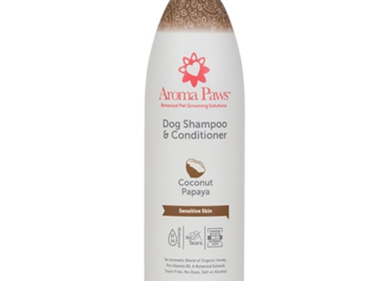 Coconut Papaya Shampoo and Conditioner to soothe dry skin, releive stress, natural moisturizer
