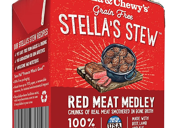 STELLA & CHEWY'S DOG STEW RED MEAT MEDLEY 11OZ (case of 12)