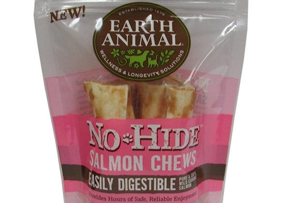 "Earth Animal No Hide Salmon Chews Dog Treats, 4"" 2Pack"