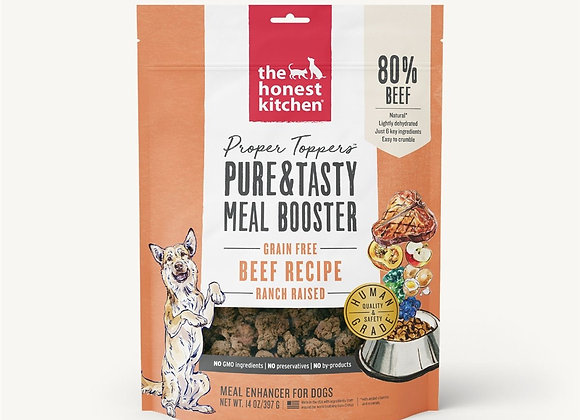 Honest Kitchen  Dog Proper Topper Grain Free Beef  14 oz.