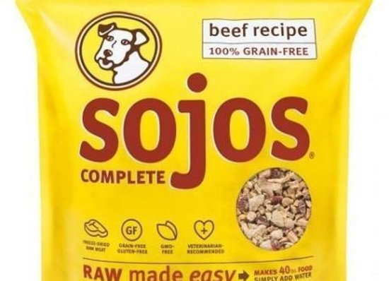 SOJOS DOG FREEZE-DRIED COMPLETE ADULT BEEF 7LB