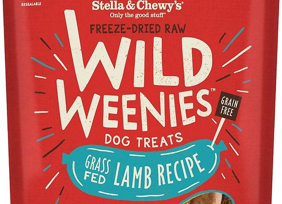 Stella & Chewys Dog Freeze Dried WEENIE Lamb 3.25 oz.