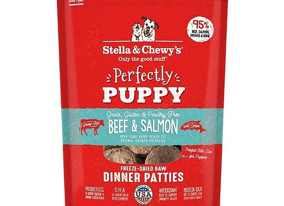 Stella & Chewys Dog Freeze Dried Puppy Beef Salmon 14 oz.