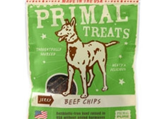 Primal Jerky Beef Chips Dog Treats, 3-oz. bag