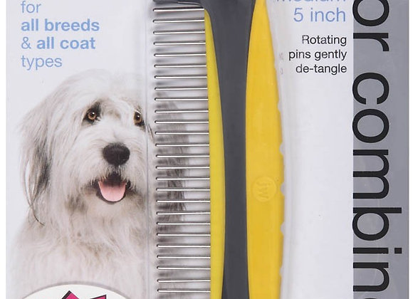 JW Pet GripSoft Rotating Comfort Comb Medium 5in