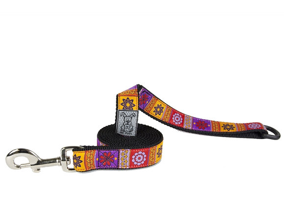 Dog Leash RCPETS Trendy Mehndi durable, reflective, floating accessory D-ring