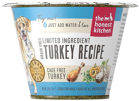 Honest Kitchen  Dog LID Grain Free Turkey 2 oz.  Cup (Case of 12)