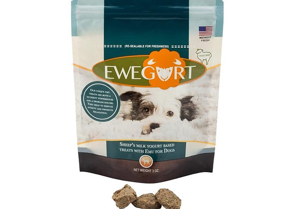 Ewegurt Natural Calming Treats with Emu, natures relaxant, which help reduce stress, anxiety