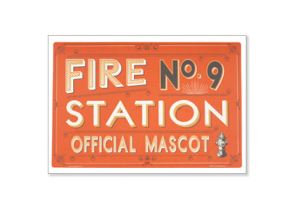 Fire Station No. 9 Dog Dinner Placemat