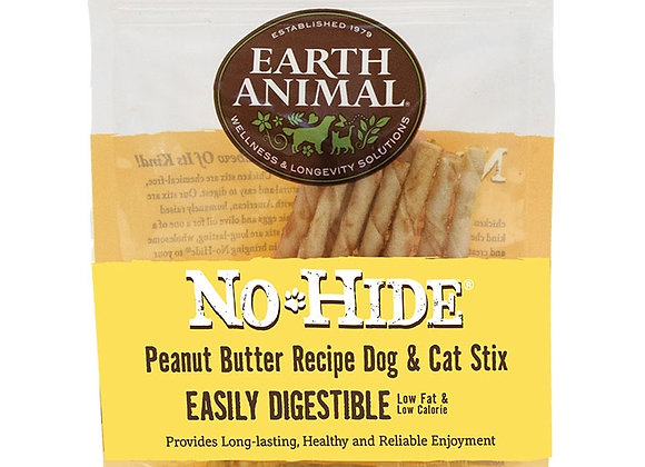 Earth Animal NO Hide Chews Peanut Butter Stix 10Pack