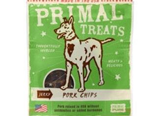 Primal Jerky Pork Chips Dog Treats, 3-oz. bag