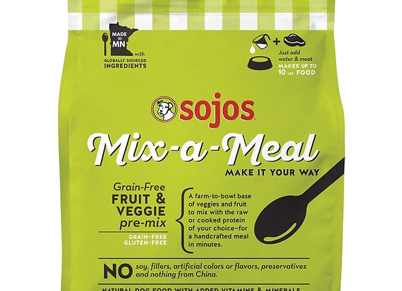 SOJOS DOG FREEZE-DRIED MIX-A-MEAL GRAIN FREE FRUIT & VEGETABLE 2LB